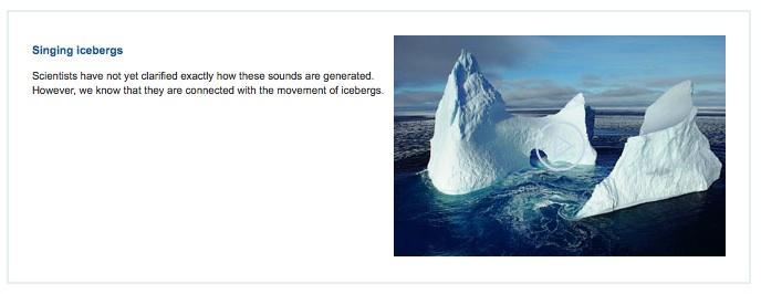 Singing Icebergs